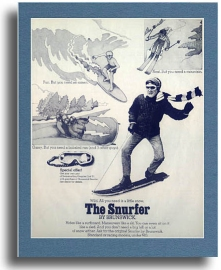 An advertisement for the Snurfer