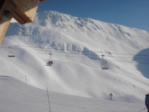 Riding in the Alyeska bowl is largely an above-the-treeline experience.