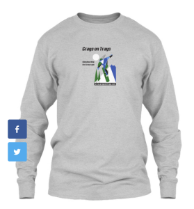 Long-sleeve and short-sleeve shirts are available, plus hoodies.