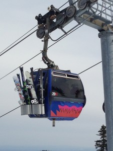 Snowboards at Killington