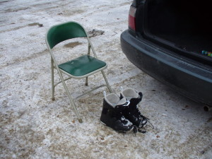 small-parking lot chair